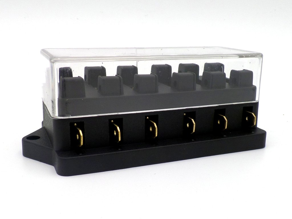 surface mount 6 way side entry vehicle and marine fuse box. Black Bedroom Furniture Sets. Home Design Ideas
