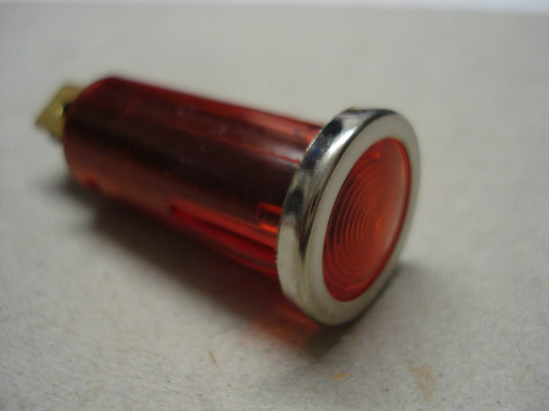 Small 12v red warning light with chrome bezel