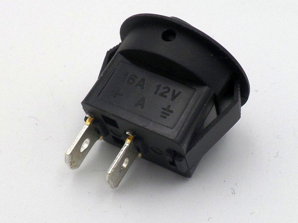 12 Volt 16 Amp Round Mini Rocker Automotive Switch