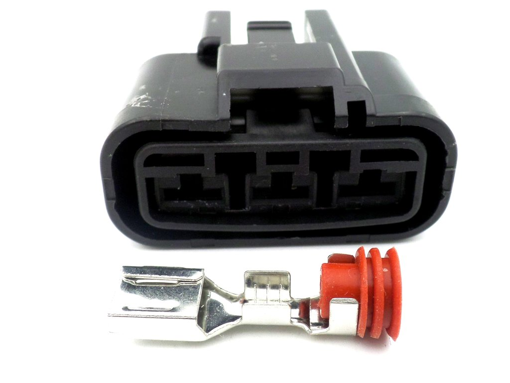 3 Way Black Shindengen Rectifier Connector Plug FH020AA FH012AA