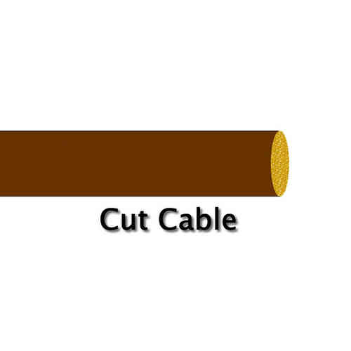 2.0mm² 17.5 Amp Standard Wall Brown Cable Cut Metre