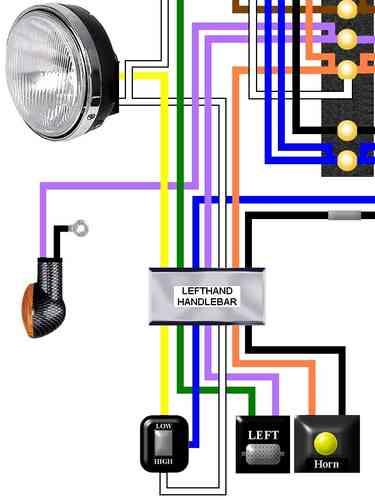 Harley Davidson Large Laminated Colour Wiring Loom Diagrams on