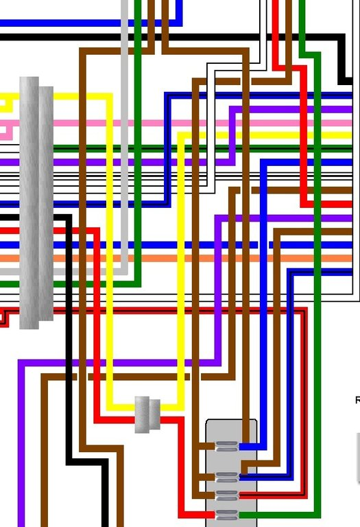 Moto Guzzi 850 T3 Colour Motorcycle Wiring Loom Diagram