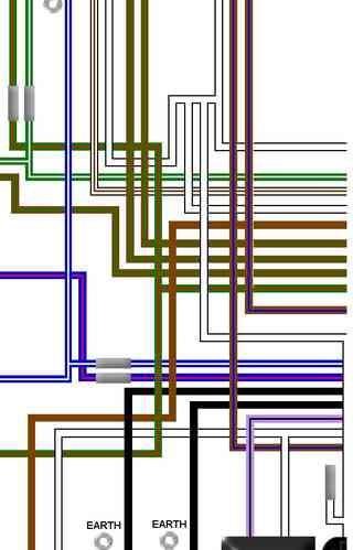 Triumph    T150 Trident Colour Electrical    Wiring    Diagrams