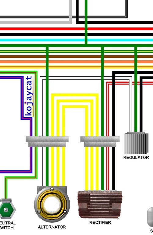 honda cb750k4 - k7 uk spec 1973 - 1977 colour wiring loom diagram  kojaycat