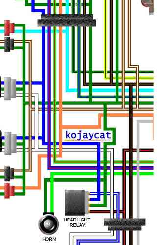Honda CBR250RR L MC22 1990 UK Colour Wiring Diagram