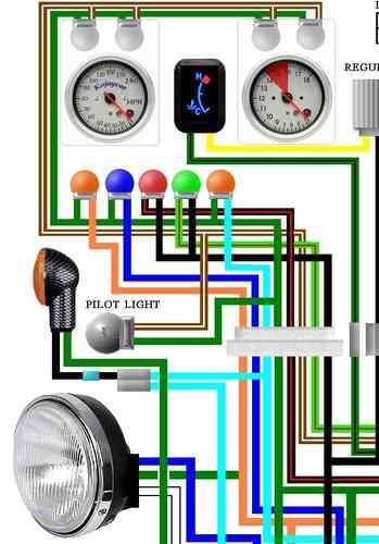 CX500   CX650 Colour Electrical    Wiring    Diagrams