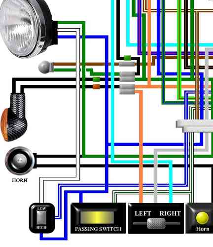 Cx500  U0026 Cx650 Colour Electrical Wiring Diagrams