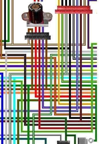 honda vfr400 vfr750f large laminated colour wiring loom