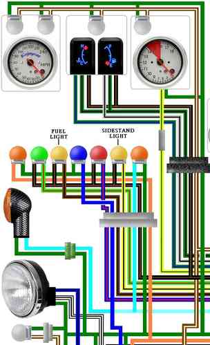 Honda St Pan European Colour Wiring Loom Diagram M on Honda St1100 Wiring Diagram
