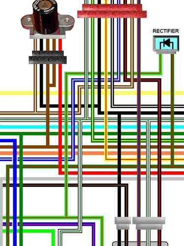 honda cbx550f cbx750f a3 laminated colour wiring loom diagram. Black Bedroom Furniture Sets. Home Design Ideas