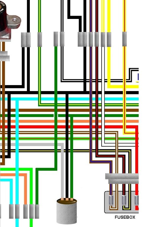 Honda CL360 General Spec Large Colour Wiring Loom Circuit DiagramKojaycat