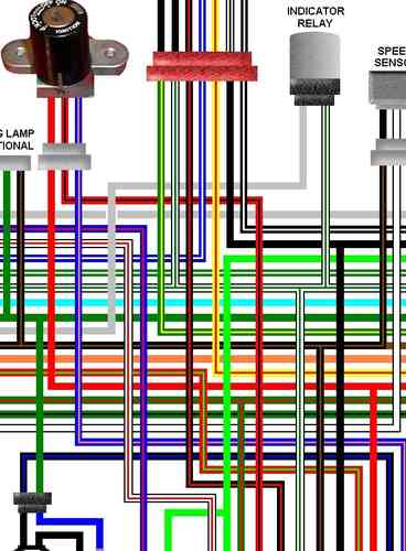 Honda VTX1300 Colour Motorcycle    Wiring    Loom Diagrams