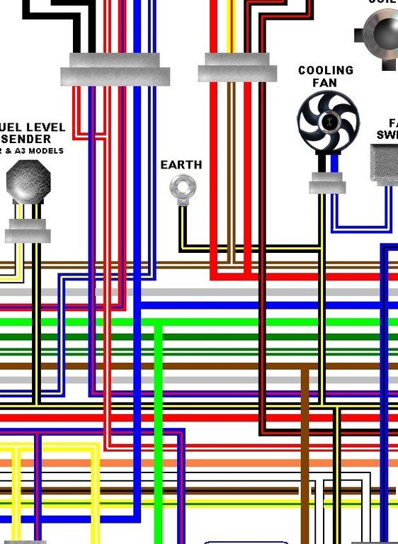 Kawasaki ER500A 1997  99 ER5 Colour    Electrical       Wiring       Diagram