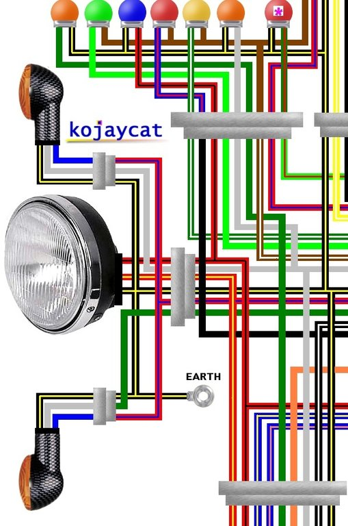 Kawasaki Zx A Colour Wiring Loom Diagram on kawasaki ninja wiring diagrams