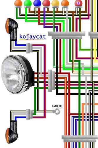 kawasaki gpz900r / gpz1000r colour electrical wiring diagrams kawasaki klf300 wiring diagram kawasaki gpz900r wiring diagram