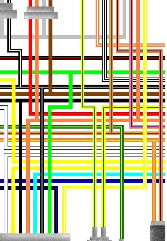 Suzuki Gsxr 750 H J  U0026 K Uk Spec A3 Colour Wiring Loom Diagram