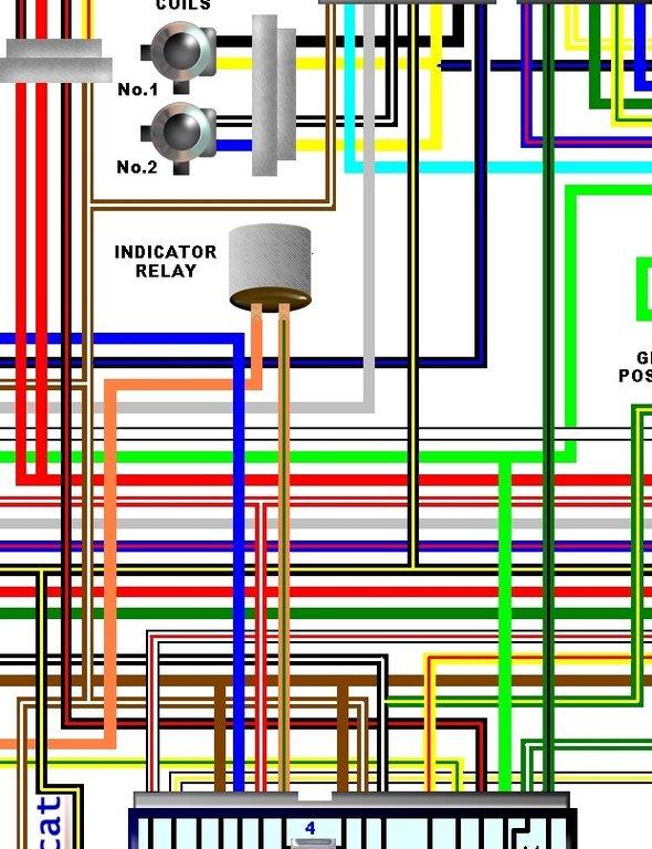 Kawasaki Ej650a W650 Uk Spec Colour Wiring Loom Circuit