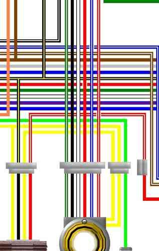 kawasaki kh400 s3 large a3 colour laminated wiring loom. Black Bedroom Furniture Sets. Home Design Ideas