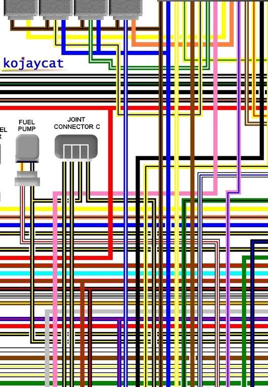 kawasaki zr750 j1 j5 uk spec colour wiring harness diagram rh kojaycat co uk Light Switch Wiring Diagram Basic Electrical Wiring Diagrams