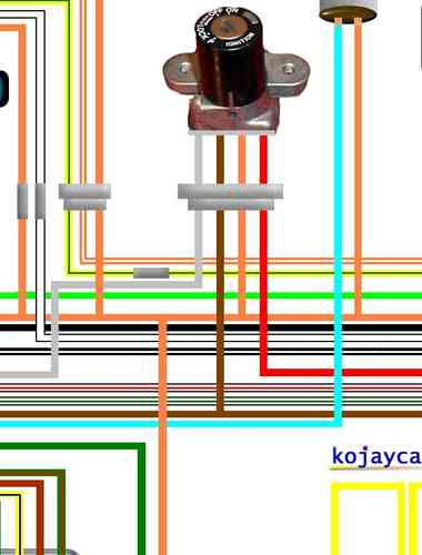 Suzuki GS400  GS425  GS450 Laminated    Wiring    Circuit Loom    Diagram
