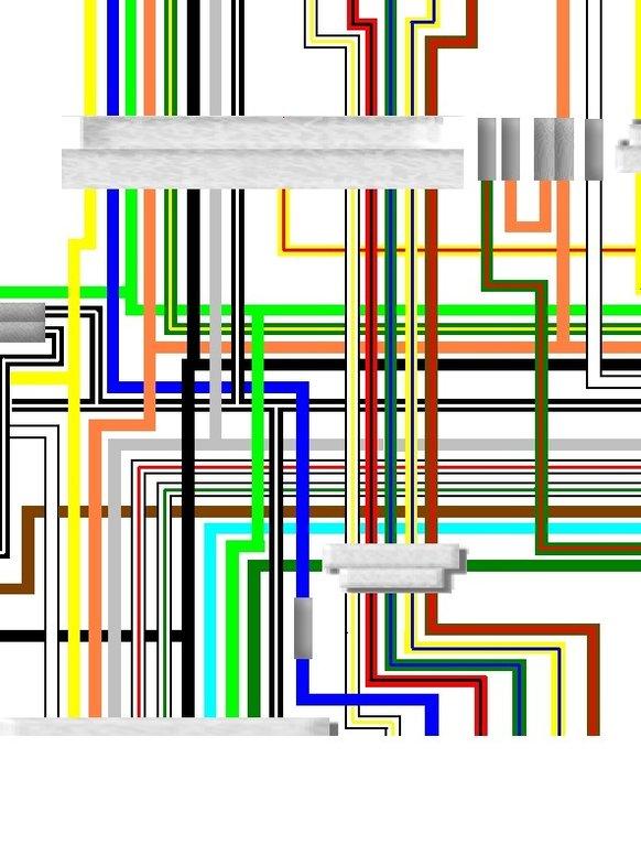 Suzuki GS750 1976 - 78 USA Spec Colour Electrical Wiring Diagram