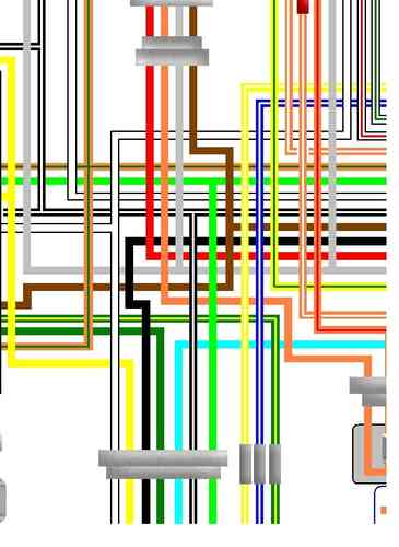 Suzuki GS650 Laminated Colour Wiring Circuit Loom Diagram