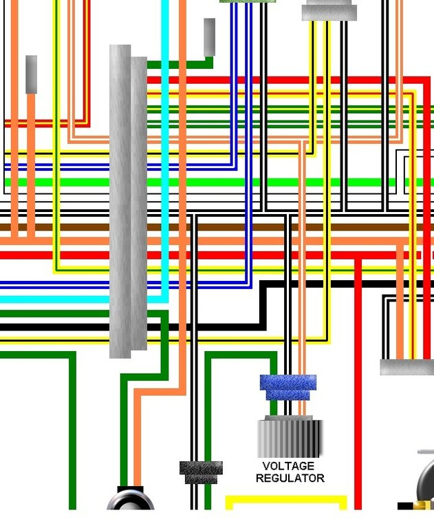 Suzuki Re5 Rotary Usa Canada Spec Colour Wiring Loom Diagram