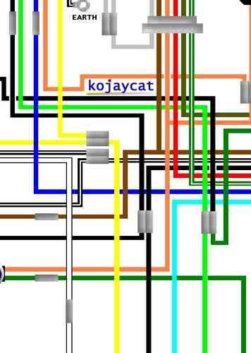 suzuki t250, t350 large a3 laminated colour wiring loom diagram  kojaycat