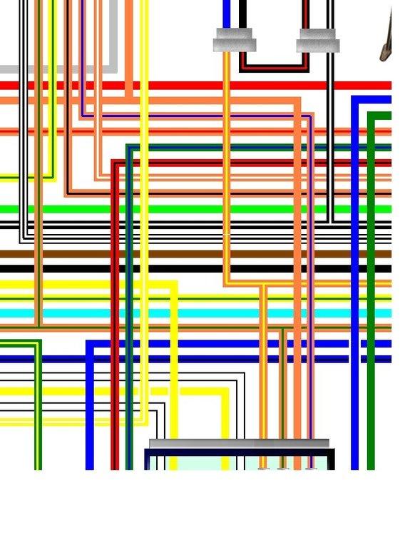 suzuki vx800 1997 - on uk spec colour wiring loom circuit ... ford 900 wiring diagram vx800 wiring diagram
