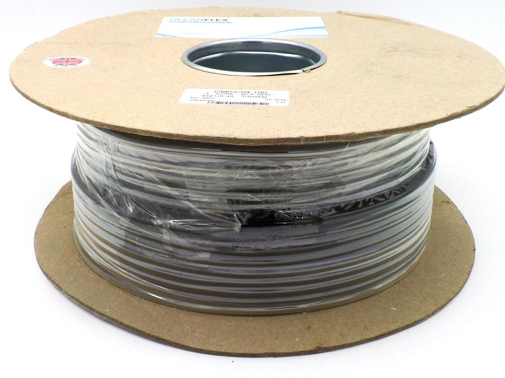 1.5mm² 3 Core Tinned Round 16 AWG 12v 21 Amp Cable 100m