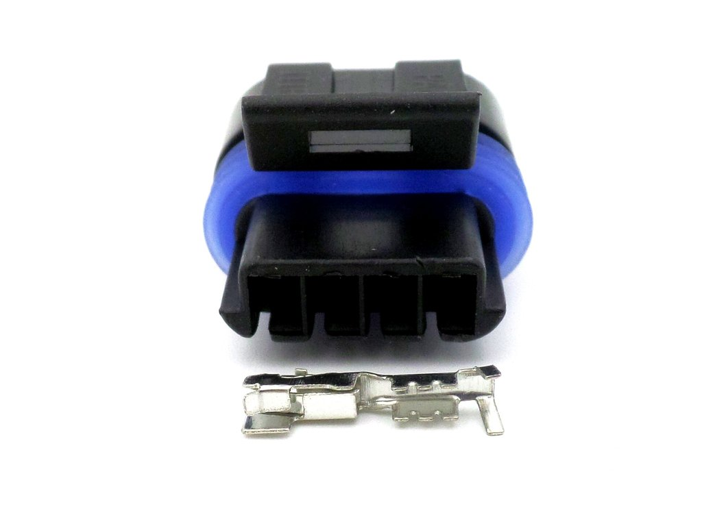 Metri-Pack 150 2 Series 4 Way P2S Blue Wiring Loom Connector