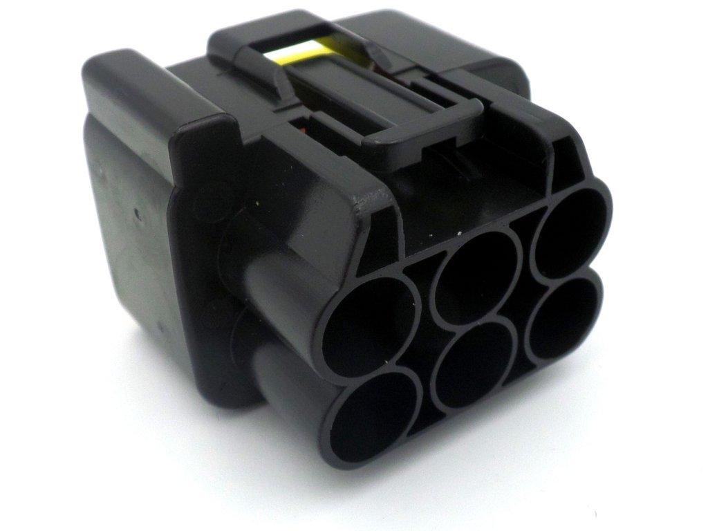 6 Way Black Kawasaki Rectifier Sealed Wiring Loom Connector Plug Er 6f Harness Yamaha