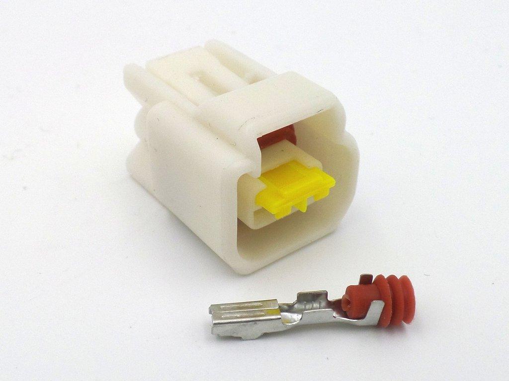 2 Way CBR Female White Sealed Pencil Coil Connector FW-C-2F-W