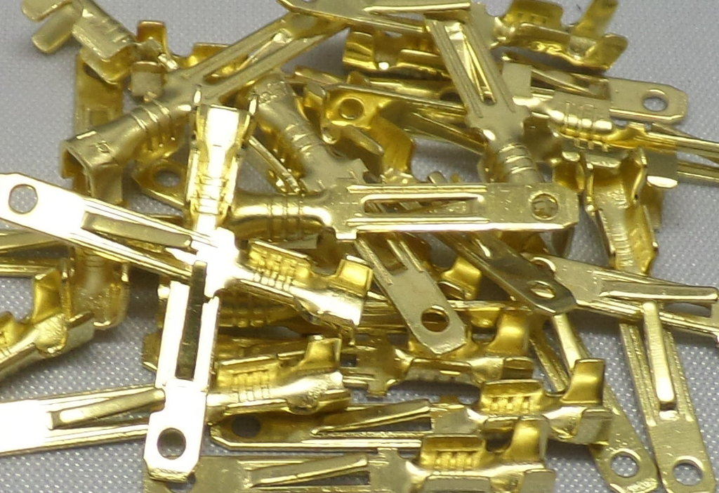 2.8mm Plain Brass ML Male Terminals 50 Pack