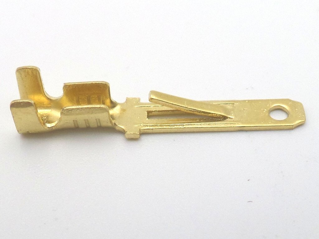 2.8mm Mini-Latch Plain Brass Male Terminal