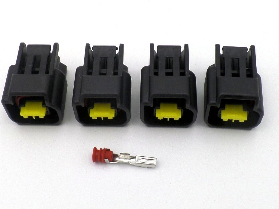 4 X 2 Way Nippon Denso Stick Coil Wiring Harness Connector