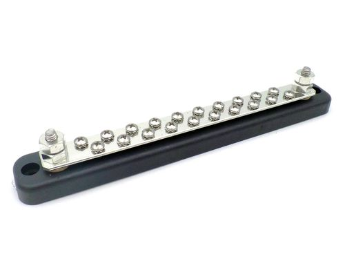 Busbar 2 x 6mm Stud 20 X 4mm screws 150 Amp Marine Grade