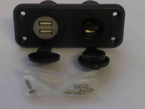 Flush Mount USB Dual Port 12v