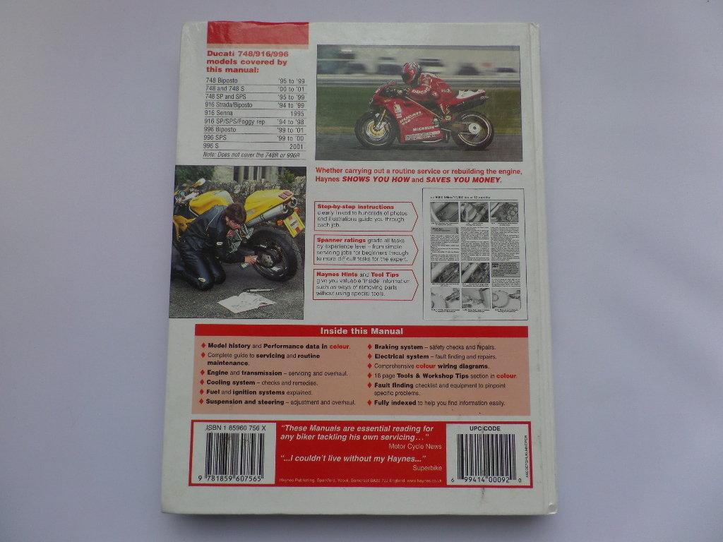 ... Used Haynes Ducati 748 916 996 Manual ...