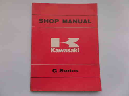 Used Kawasaki G Series Factory Manual