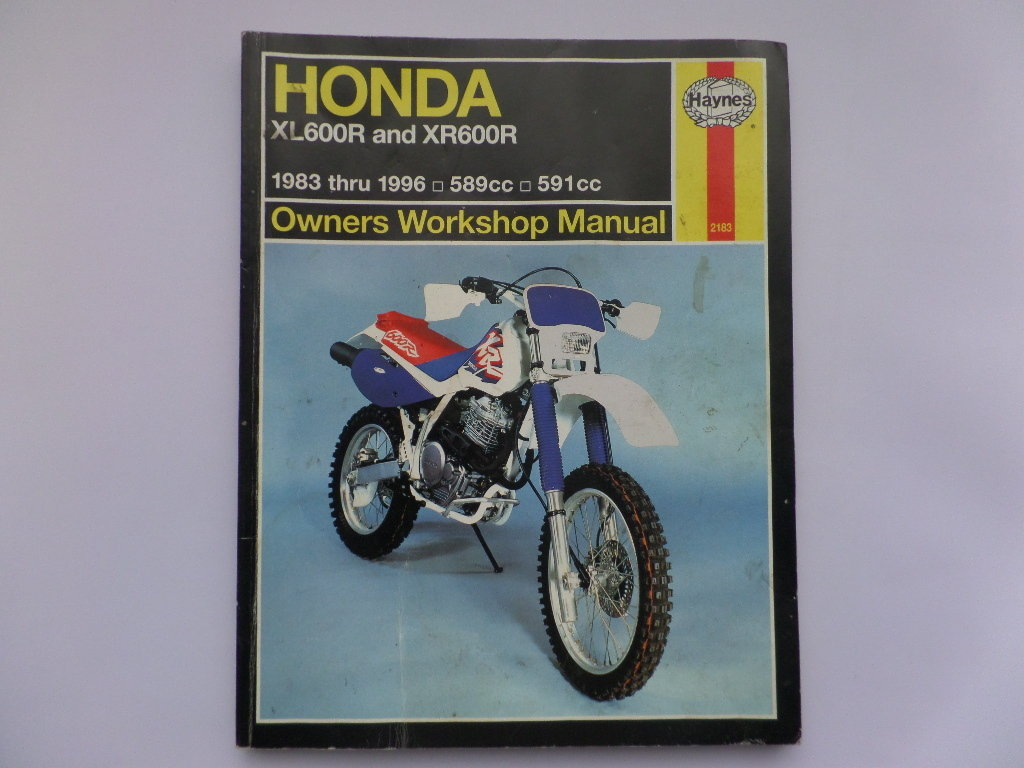 Used Haynes Honda XL600R XR600R Manual