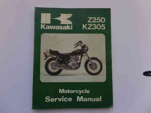Used Kawasaki Z250 KZ305 Factory Manual