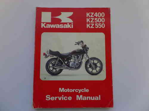 Used Kawasaki KZ400 KZ500 KZ550 Factory Manual