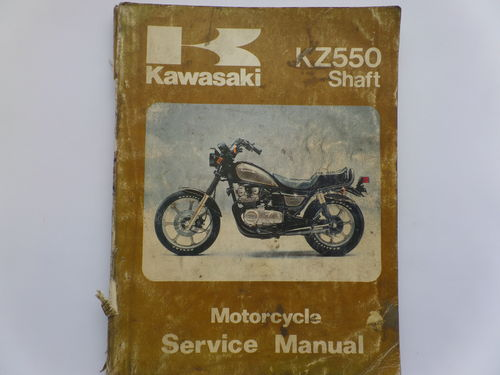 Used Kawasaki KZ550 Shaft Factory Manual
