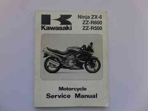 Used Kawasaki ZZR500 ZZR600 ZX-6 Factory Manual