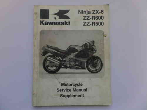Used Kawasaki ZX6 ZZR500 ZZR600 Factory Manual Supplement