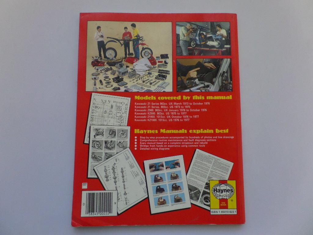 Kawasaki Z1 Z900 Z1000 Haynes Workshop Maintenance Manual 1977 Kz1000 Wiring Diagram Used