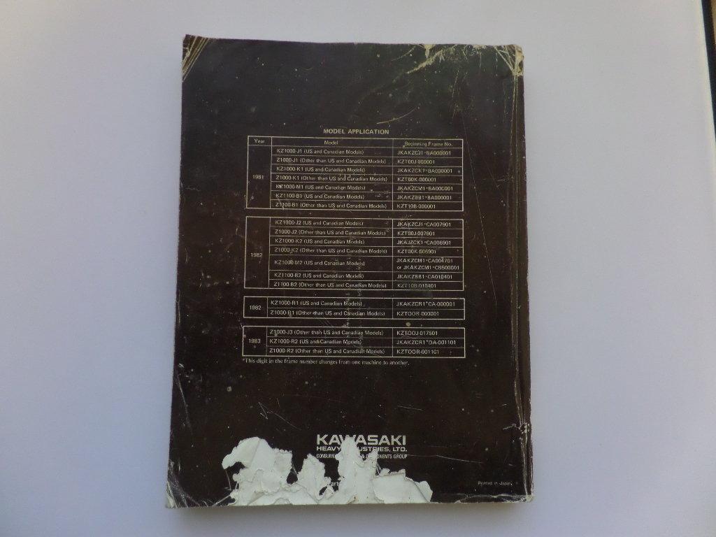... Used Kawasaki KZ1000 KZ1100 Factory Manual ...