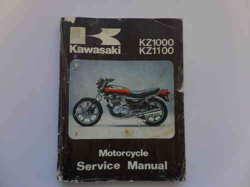 Used Kawasaki KZ1000 KZ1100 Factory Manual